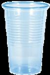 Drinkbekers, drink bekers plastic transparant kleur blauw 200 cc