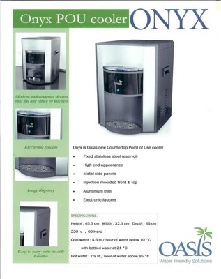 Waterkoeler Oasis Onyx waterleidingcooler koud en lauw water